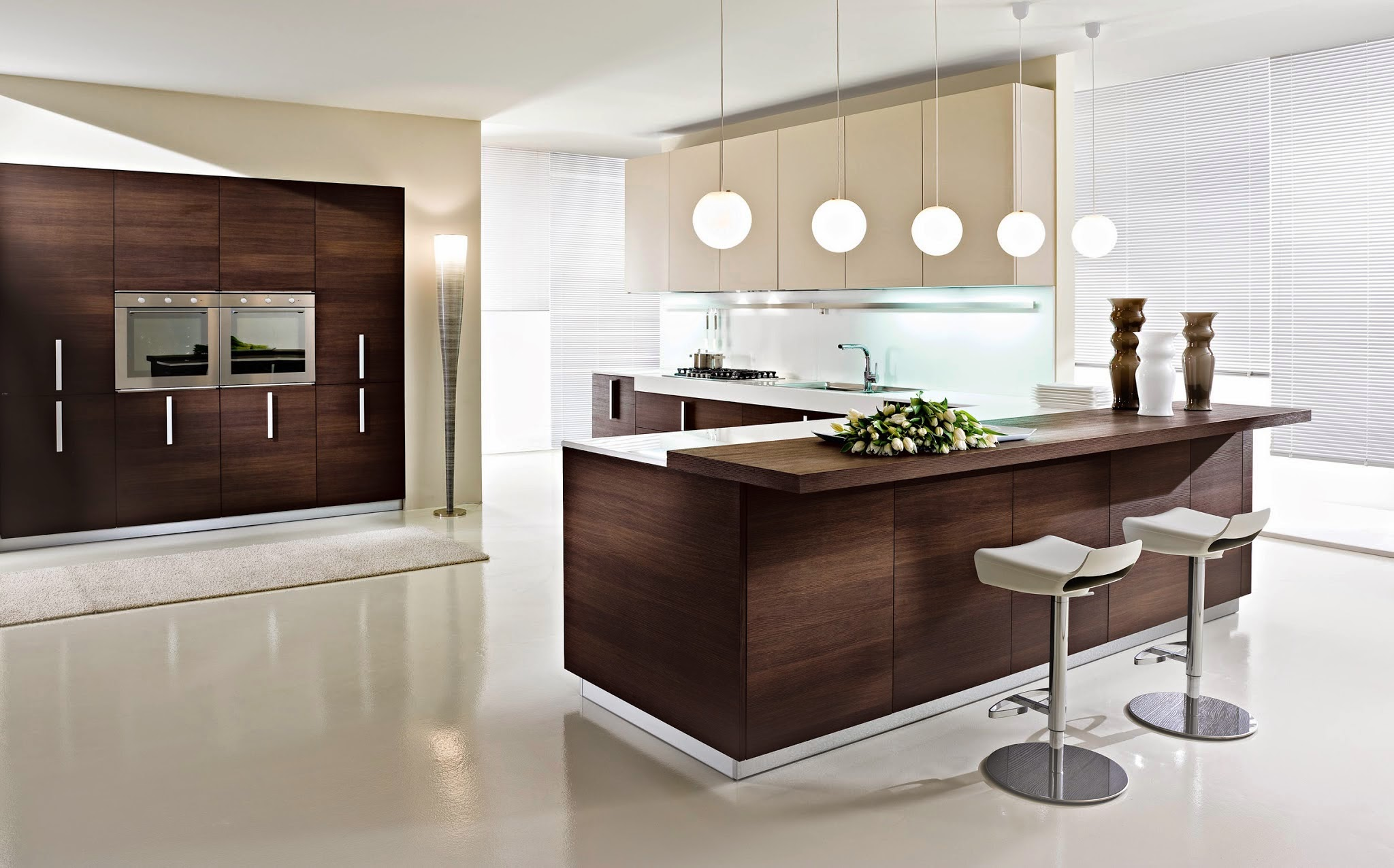 Italian-Kitchen-Design-with-Brown-White-Color-Scheme