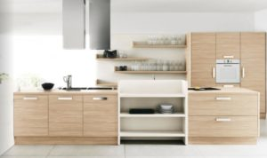 Light-Wood-Cream-Kitchen-Cabinet-feat-White-Kitchen-Wall