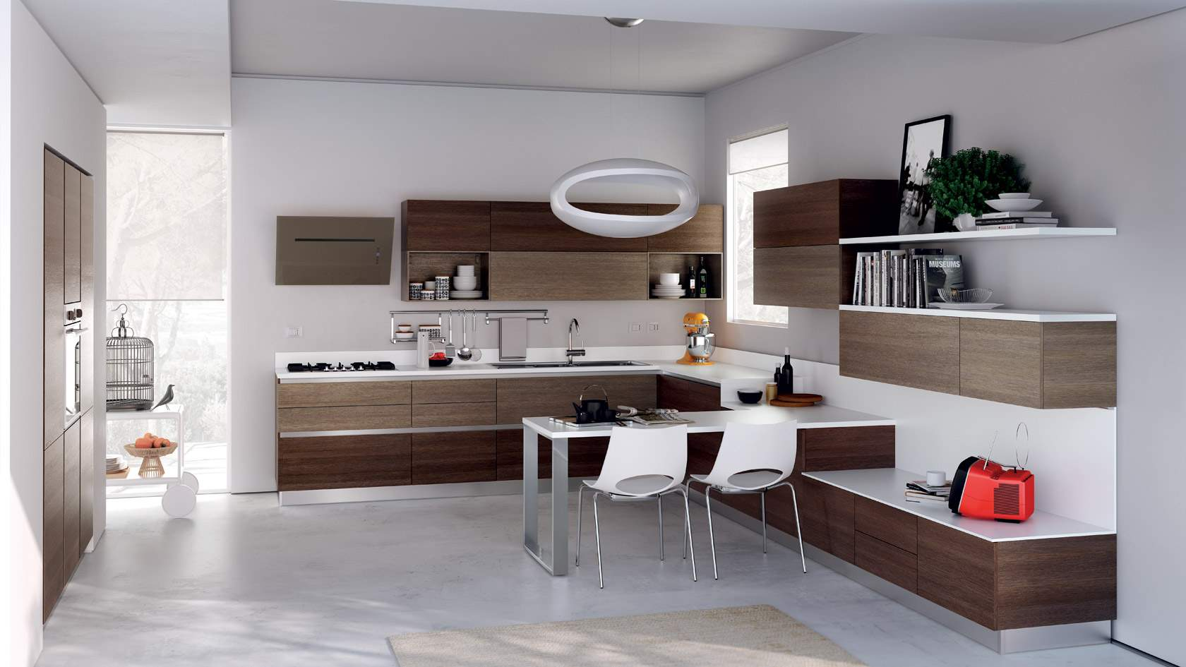 White-Brown-Kitchen-with-Eco-Cabinet-plus-Pendant-Lamp